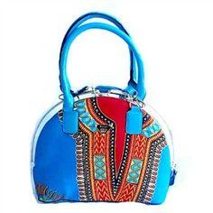 Dashiki African Wax Print Tote Bag, The Bassa Bag