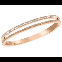 Swarovski click bangle (rose gold) Brand new without box. Never worn, got as a birthday gift and rose gold just isn't for me. This is a stunning bracelet. The crystals are very sparkly and I like the beaded look. Swarovski Jewelry Bracelets