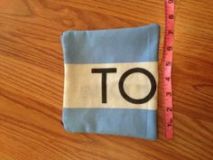 Toms Flag Zipper Pouch  Vintage Purple Zipper by bybmg on Etsy, $8.50