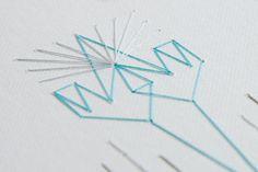 -2014.- Bordado sobre papel. Embroidery on paper. 20 cm x 15 cm