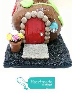 Fairy garden miniature log home. from Puppy Love Miniature https://www.amazon.com/dp/B071LPVTTZ/ref=hnd_sw_r_pi_dp_fBWjzbG0F8NTE #handmadeatamazon