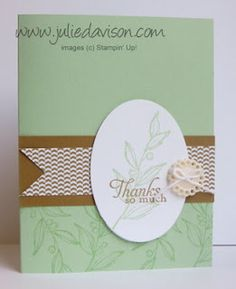 Julie's Stamping Spot -- Stampin' Up! Project Ideas Posted Daily: Sneak Peek: Simply Sketched Thank You Card