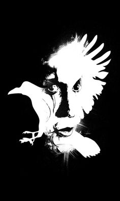 My illustration of Brandon Lee as The Crow.