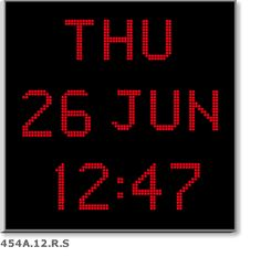 Big Digital LED Calendar Clock with Day and Date Shelf or Wall