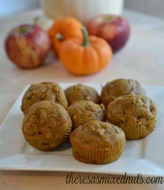 Apple Pumpkin Walnut Muffins