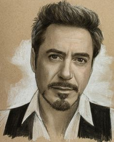 Robert Downey Jr. Pastel Charcoal and Graphite Celebrity Portraits. By Justin Maas.