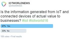 IOTWORLDNEWS ‏@iotworldnews: The jury is out and the results are in from our poll! #iot #iotworld16