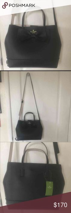 "Kate spade bag NEW WITH TAG, no flaws Black Kate spade bag  Retail $329 Size 9.2""h x 11.7""w x ""d drop length: 4"" handheld Material: double faced pebbled leather top handle satchel with magentic tab closure interior zipper pocket and dual slide pockets kate spade Bags"