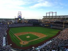 The Colorado Rockies National League baseball club at Coors Field in Denver.