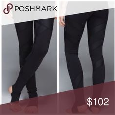 Lululemon black satin cire leggings Re-poshing, posher I bought from did not describe that the stirrups were cut off. They are still in good condition and can be worn as leggings. These are a size 6. Minus the removal of the stirrups I would give the condition of these a 7/10 lululemon athletica Pants Leggings