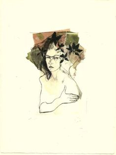 "Saatchi Art Artist Ute Rathmann; Printmaking, ""Hommage à Frida Kahlo III"" #art"