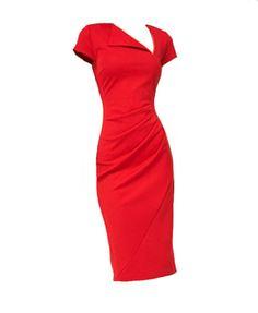Bodycon Midi Short Sleeve Dress with Asymmetric Neckline
