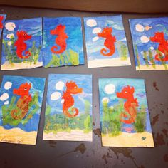Eric Carle Mr. Seahorse 2nd grade lesson from Tiger Apple Twist