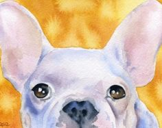 FRENCH BULLDOG Dog Signed Art Print by Artist DJ Rogers