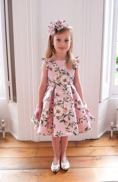 97efd27b3d2ca1 One of our many beautiful bouquet prints for  SS17  DavidCharlesCW Pink Princess  Dress