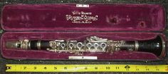 Antique Rampone Piccolo Clarinet in Ab - Before