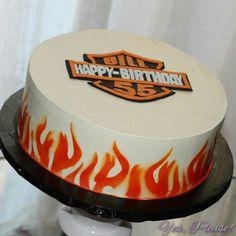 Harley Davidson inspired birthday cake