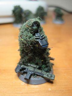 Kroot Sniper in camo net Tau Commando - Spotter | Flickr - Photo Sharing!