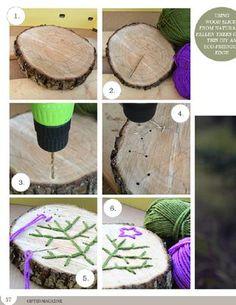 DIY wood stitching!