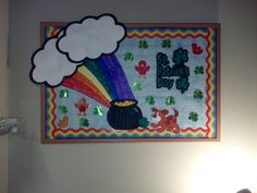 St. Patrick's Day bulletin board art created by me!