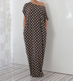 Snuff-colored Maxi dress, Caftan, Plus size dress, Abaya, Kaftan, Oversized dress, Party dress