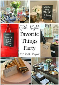 Girls Night: Favorite Things Party
