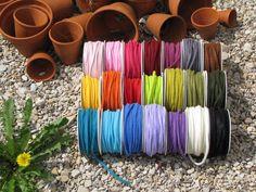Filzband in allen Regenbogenfarben 4mm breit von Sonja Sonnenschein auf DaWanda.com