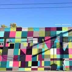 Outdoor Mural. See More. This Wall Reminds Me Of Kona Modern Quilts Fabrics