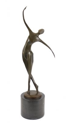 Modern Bronze Figure - Abstract Dancer on Black Marble - Milo This creation by the Portuguese artist Milo is an expression of creativity itself: The dancer Modern Art Sculpture, Sculpture Clay, Bronze Sculpture, Metal Sculptures, Sculptures For Sale, Animal Sculptures, Abstract Art For Sale, The Dancer, Plastic Art