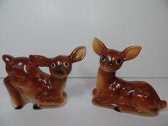 Vintage Salt & Pepper Shakers: Baby Deer Shaker Set
