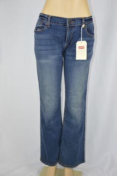Levi's Womens 15 M 524 Too Superlow Boot Cut Dark Wash Jeans NEW #Levis #BootCut