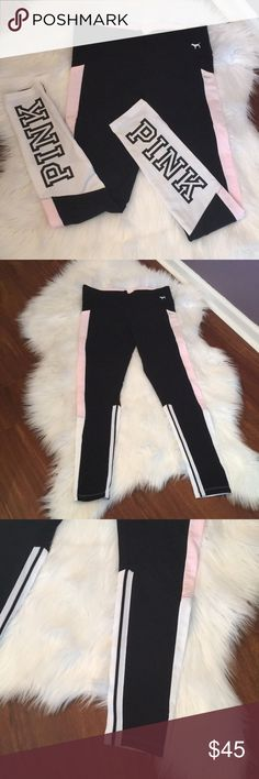 😍💋VS PINK Yoga legging 💄 😍 NWT 😘 retail + tax almost $50 🌈 I just bought enough for me💄 PINK Victoria's Secret Pants Leggings