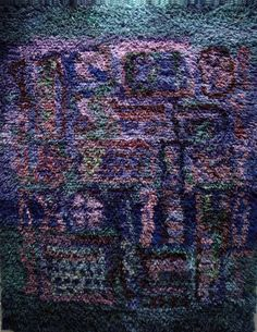 Eva Brummer -- Kesayo, 1950  __ rya rug/wall hanging Textile Patterns, Textile Art, Textiles, Rya Rug, Modern Tapestries, Latch Hook Rugs, Rugs On Carpet, Carpets, Magic Carpet