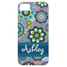 Girly Floral Pattern With Name IPhone SE 5 5s Case