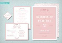 DIY Printable Wedding Invitation Pearl - 4 pieces. $95,00, via Etsy.
