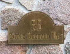 Standard Address Plaque, Antique Brass Cast Aluminum . $85.00