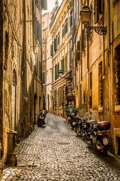 "This picture reminds me of the street I describe in ""Roman Rain"" in Pastel & Pen. Mostly Italy. Streets of Rome (Lazio, Italy) by Elmar A. Rome Travel, Italy Travel, Travel Europe, Places To Travel, Places To See, Travel Destinations, Places Around The World, Around The Worlds, Rome Streets"