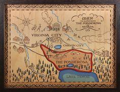 Ponderosa Original Map by Robert Temple Ayres