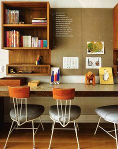 kids' desk area