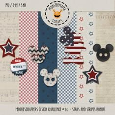 Tammy Tags Blog Train Post, July 2014, Mouse Scrappers, Design Challenge 16.  Some great Disney and patriotic themed digital scrapbooking freebies!