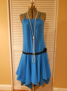 Free tutorial for a quick, easy and inexpensive flapper dress!