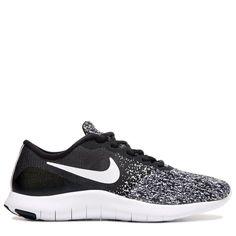 Nike Women's Flex Contact Running Shoes (Black / White)