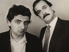 Rowan Atkinson and John Cleese I SO LOVE these 2 British comedians British Humor, British Comedy, British Actors, American Actors, Monty Python, Portraits, Funny People, Funny Guys, Man Humor