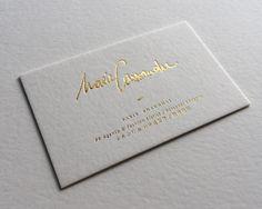 Print : Badcass - Design : La chambre graphique - Carte de visite en letterpress - #dorure #marquageàchaud