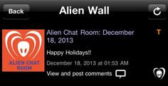[18.12.2013] BTK App/ Alien Chat Room  Boas Festas