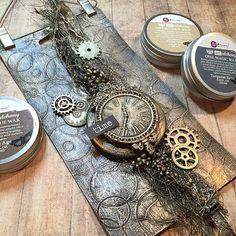 It so simple to get amazing results with Art Alchemy Waxes! Repost from @tesapysslar - #finnabair #primamarketing #mixedmedia #wax #artalchemy #artalchemywax #finnabairproducts