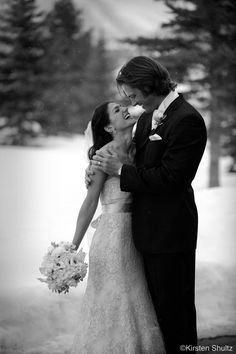 First off, love Jared Padalecki! Genevieve Cortese is a luckkky woman! Second I love that they had a winter wedding :) Beautiful shot of happiness & love <3