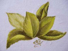 Pintura em tecido: como pintar folhas passo a passo - YouTube