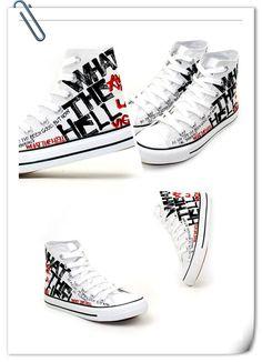 Avril Lavigne custom design shoes