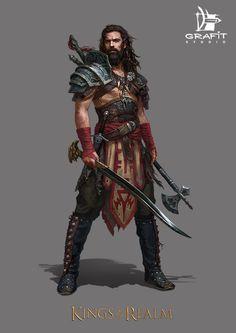 """Clegan (osag, maître d'armes et forgeron à ses heures perdues) """"Tout bon forgeron devrait savoir manier les armes qu'il confectionne."""""""